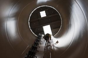 Aufbau in Tholey, Vensys 100 2,5 MW